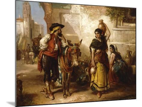 A Chat at the Fountain, Seville-Thomas Kent Pelham-Mounted Giclee Print