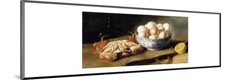 A Crab and a Bowl of Eggs on a Basket, with a Bottle and Half a Lemon-Mary A.		 Powis-Mounted Premium Giclee Print