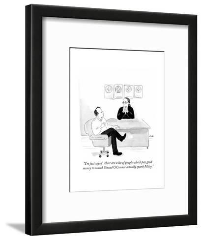 """""""I'm just sayin', there are a lot of people who'd pay good money to watch?"""" - Cartoon-Emily Flake-Framed Art Print"""
