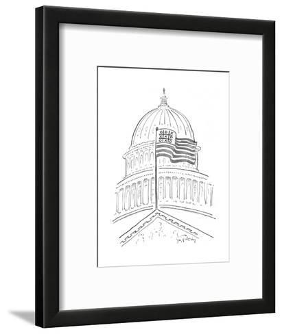 Tic Tac Toe at the Capitol Building - Cartoon-Mike Twohy-Framed Art Print