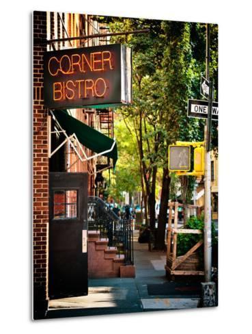 Urban Scene, Corner Bistro, Meatpacking and West Village, Manhattan, New York-Philippe Hugonnard-Metal Print