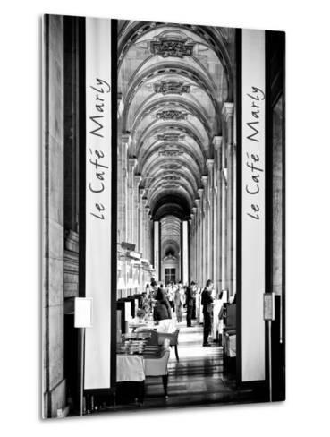 Modern Brewery, Cafe Marly, the Louvre Museum, Glass Pyramids, Paris, France-Philippe Hugonnard-Metal Print