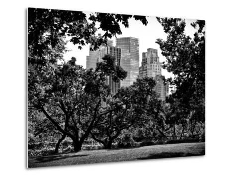 Place for Lovers in Central Park, Manhattan, New York City, Black and White Photography-Philippe Hugonnard-Metal Print