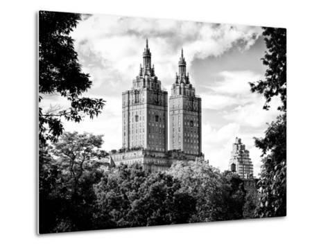 The San Remo Building, Central Park, Manhattan, New York, Black and White Photography-Philippe Hugonnard-Metal Print