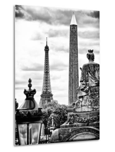 Place De La Concorde with Ancient Obelisk, Hotel Crillon and the Ministry of the Navy, Paris-Philippe Hugonnard-Metal Print