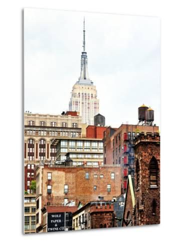 Architecture and Buildings, Empire State Building, Midtown Manhattan, New York City, United States-Philippe Hugonnard-Metal Print