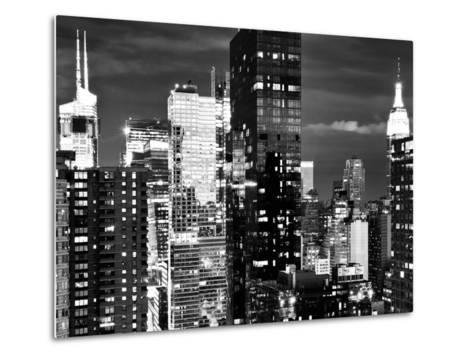 Times Square with Empire State Building, Architecture and Buildings, Manhattan, NYC-Philippe Hugonnard-Metal Print