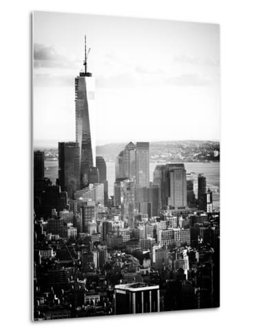 Landscape Sunset View, One World Trade Center, Manhattan, New York Vintage-Philippe Hugonnard-Metal Print