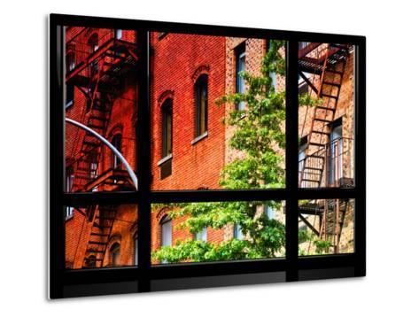 Window View, Special Series, Buildings, Stairs, Emergency, New York, United States-Philippe Hugonnard-Metal Print