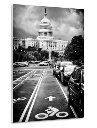 Bicycle Path Leading to the Capitol, US Congress, Washington D.C, District of Columbia-Philippe Hugonnard-Metal Print