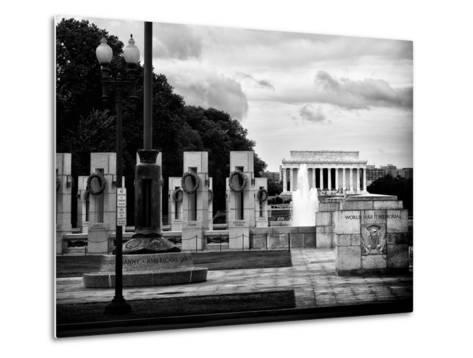 World War Ii Memorial, Washington D.C, District of Columbia, White Frame, Full Size Photography-Philippe Hugonnard-Metal Print