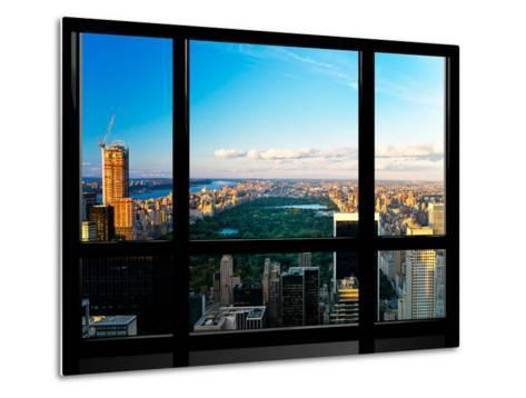 Window View, Special Series, Central Park, Sunset, Manhattan, New York, United States-Philippe Hugonnard-Metal Print