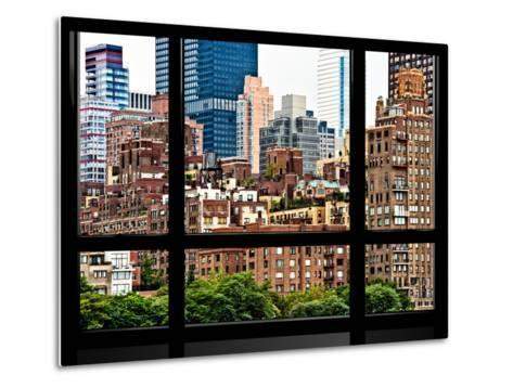 Window View, Special Series, Sutton Place District, Downtown Manhattan, New York-Philippe Hugonnard-Metal Print