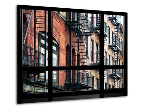 Window View, Special Series, Building Architecture, Manhattan, New York, United States-Philippe Hugonnard-Metal Print