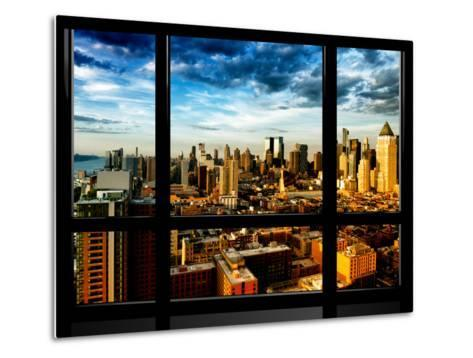 Window View, Landscape at Sunset, Theater District and Hell's Kitchen Views, Manhattan, New York-Philippe Hugonnard-Metal Print