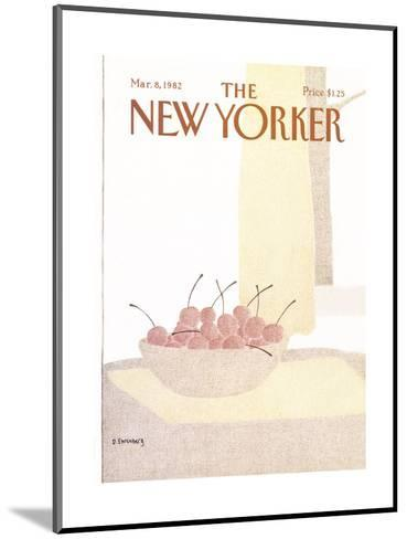 The New Yorker Cover - March 8, 1982-Devera Ehrenberg-Mounted Premium Giclee Print