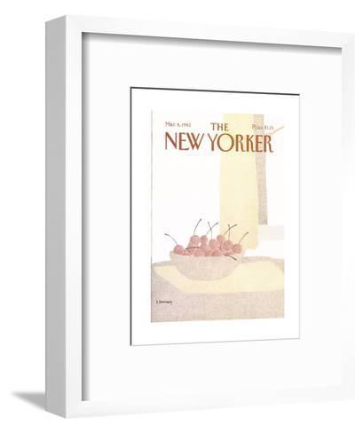 The New Yorker Cover - March 8, 1982-Devera Ehrenberg-Framed Art Print