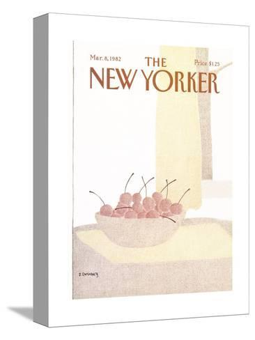 The New Yorker Cover - March 8, 1982-Devera Ehrenberg-Stretched Canvas Print