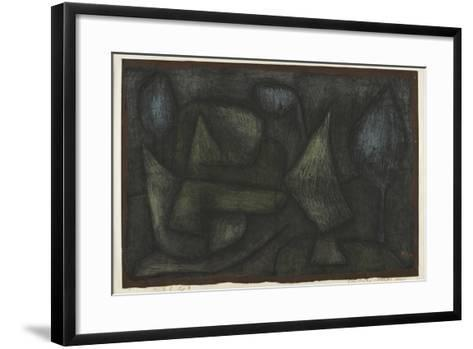 A Park Late in the Evening (Ein Park Abends Sp?t)-Paul Klee-Framed Art Print