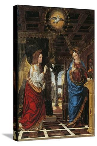Annunciation- Bergognone-Stretched Canvas Print