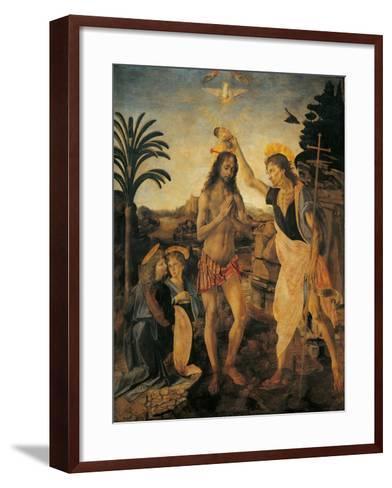The Baptism of Christ-Andrea Verrocchio-Framed Art Print