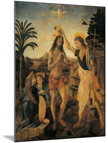 The Baptism of Christ-Andrea Verrocchio-Mounted Giclee Print