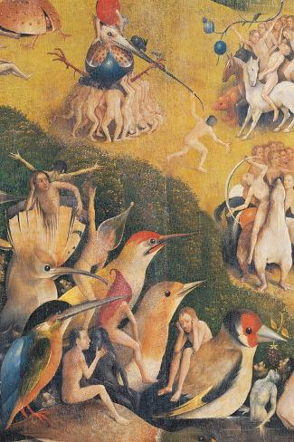 The Garden of Earthly Delights-Hieronymus Bosch-Stretched Canvas Print