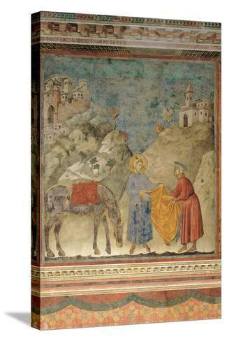 The Gift of the Mantle-Giotto di Bondone-Stretched Canvas Print