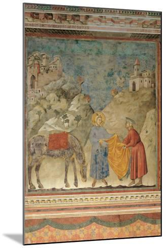 The Gift of the Mantle-Giotto di Bondone-Mounted Giclee Print