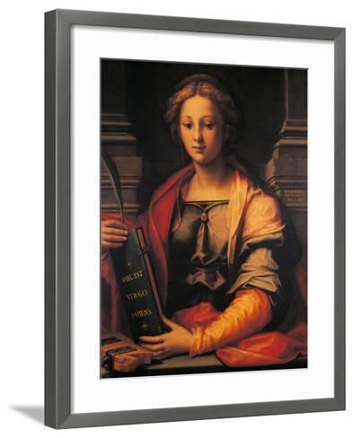 Saint Catherine of Alexandria-Giovanni Antonio Sogliani-Framed Art Print