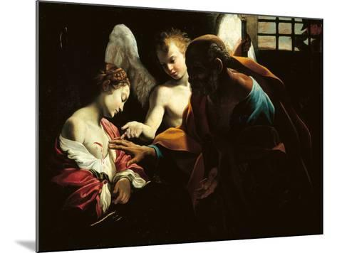St Peter Healing St Agatha-Giovanni Lanfranco-Mounted Giclee Print