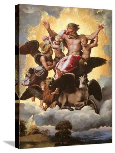 The Vision of Ezekiel-Raffaello Sanzio-Stretched Canvas Print