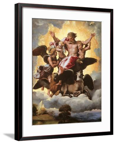 The Vision of Ezekiel-Raffaello Sanzio-Framed Art Print