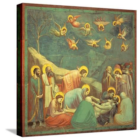 Stories of the Passion the Mourning Over the Dead Christ-Giotto di Bondone-Stretched Canvas Print