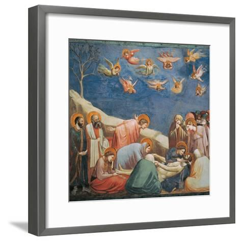 Stories of the Passion the Mourning Over the Dead Christ-Giotto di Bondone-Framed Art Print