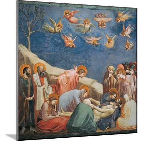 Stories of the Passion the Mourning Over the Dead Christ-Giotto di Bondone-Mounted Giclee Print