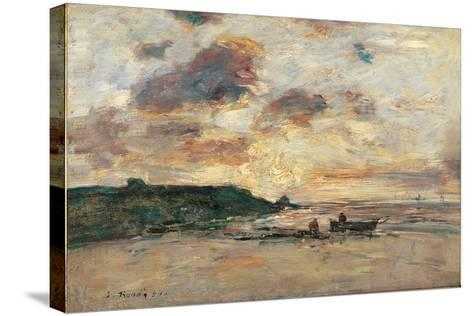 The Coast at Trouville-Eug?ne Boudin-Stretched Canvas Print
