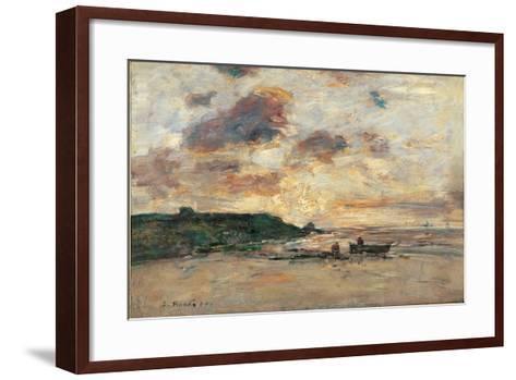 The Coast at Trouville-Eug?ne Boudin-Framed Art Print