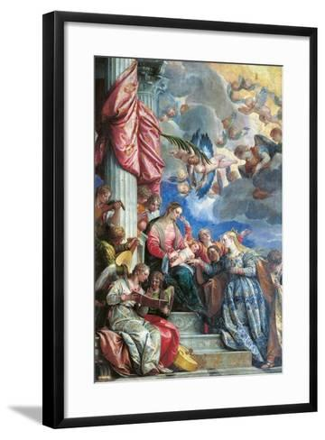 The Mystic Marriage of St Catherine-Veronese-Framed Art Print