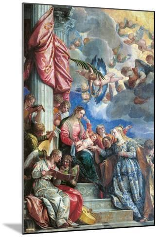 The Mystic Marriage of St Catherine-Veronese-Mounted Giclee Print