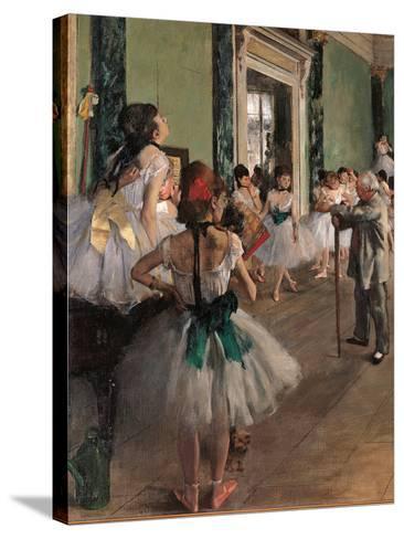 The Dance Class-Edgar Degas-Stretched Canvas Print