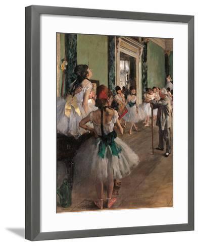 The Dance Class-Edgar Degas-Framed Art Print