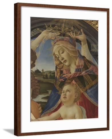 Madonna with Child and Five Angels (Madonna Del Magnificat)-Sandro Botticelli-Framed Art Print