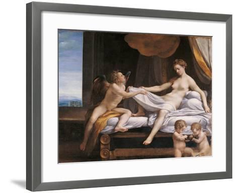 Jupiter and Dana-Correggio-Framed Art Print