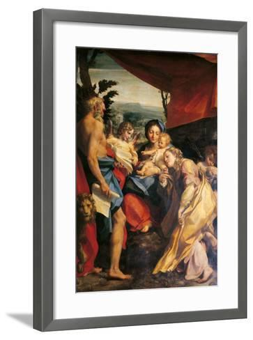 Madonna with St Jerome (the Day)-Correggio-Framed Art Print