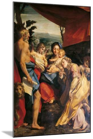 Madonna with St Jerome (the Day)-Correggio-Mounted Giclee Print