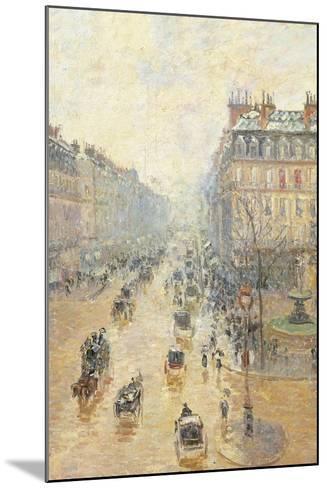 Avenue De LOpra. Snow Effect. Morning-Camille Pissarro-Mounted Giclee Print