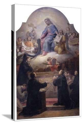 The Virgin with Saints Filippo Benizzi and Giuliana Falconeri Interceding for God's Protection-Pietro Gagliardi-Stretched Canvas Print