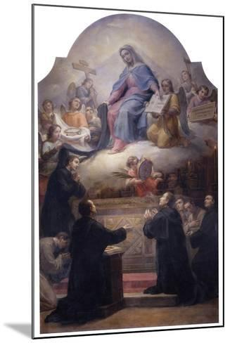 The Virgin with Saints Filippo Benizzi and Giuliana Falconeri Interceding for God's Protection-Pietro Gagliardi-Mounted Giclee Print
