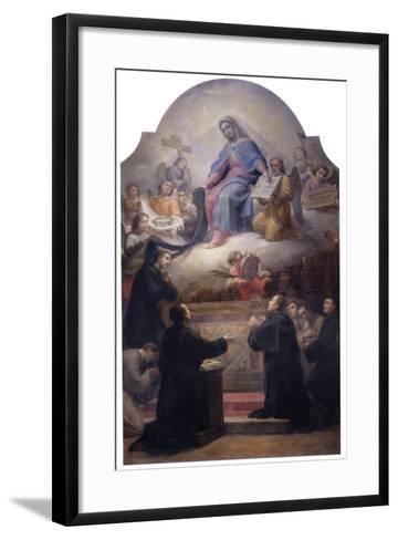 The Virgin with Saints Filippo Benizzi and Giuliana Falconeri Interceding for God's Protection-Pietro Gagliardi-Framed Art Print